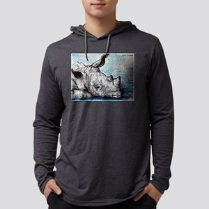 Rhino! Wildlife art! Mens Hooded Shirt