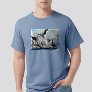 Rhino! Wildlife art! Mens Comfort Colors Shirt