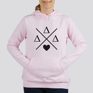 Delta Delta Delta Cross Women's Hooded Sweatshirt