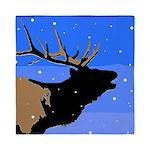 Winter Bugling Elk Queen Duvet