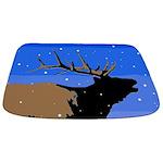 Winter Bugling Elk Bathmat
