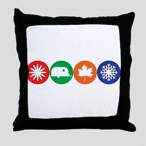 Airstream Season Throw Pillow