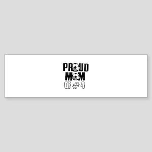 Proud soccer mom of number 4 Sticker (Bumper)