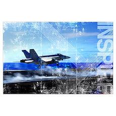 Motivational Grunge Poster: An F/A-18E Super Horne Poster