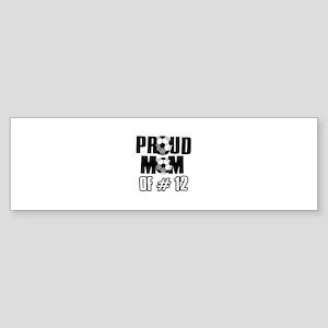 Proud soccer mom of number 12 Sticker (Bumper)