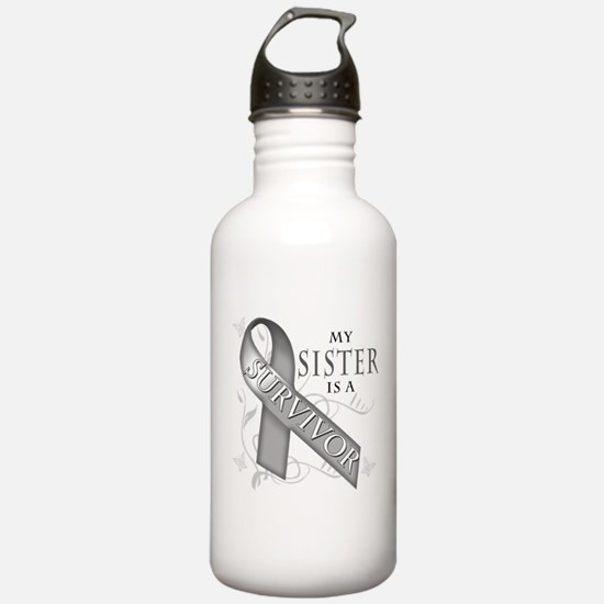My Sister is a Survivor (grey).png Water Bottle