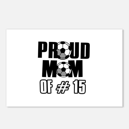Proud soccer mom of number 15 Postcards (Package o