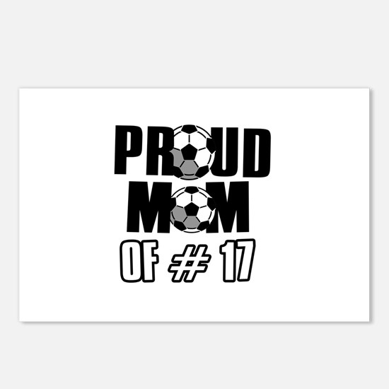 Proud soccer mom of number 17 Postcards (Package o