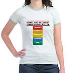 Zombie Advisory System Jr. Ringer T-Shirt