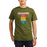 Zombie Advisory System Organic Men's T-Shirt (dark