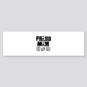 Proud soccer mom of number 20 Sticker (Bumper)