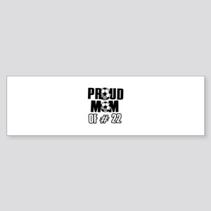 Proud soccer mom of number 22 Sticker (Bumper)