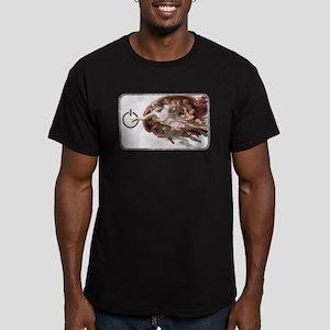 Michelangelo Code Men's Fitted T-Shirt (dark)