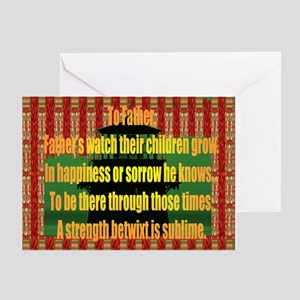 Seafaring or landlubber Fathers Greeting Cards