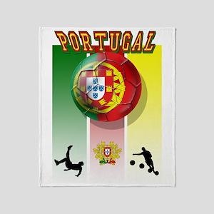 Portugal Futebol Throw Blanket