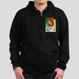 Portugal Futebol Zip Hoodie (dark)
