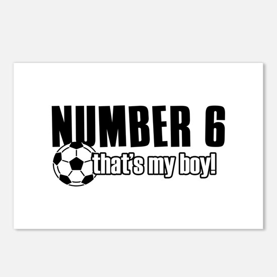 Proud soccer parent of number 6 Postcards (Package