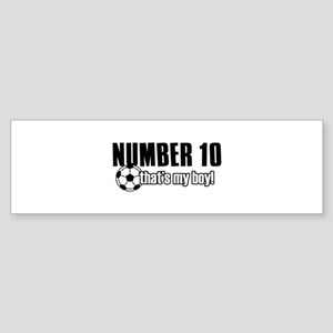 Proud soccer parent of number 10 Sticker (Bumper)