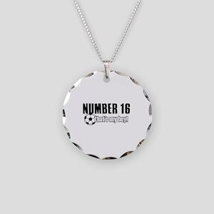 Proud soccer parent of number 16 Necklace Circle C