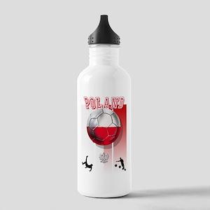 Poland Football Soccer Stainless Water Bottle 1.0L