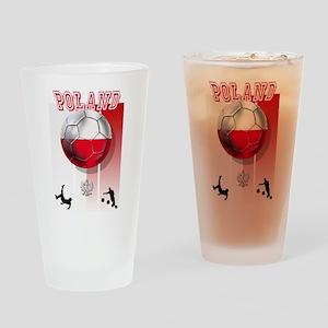 Poland Football Soccer Drinking Glass