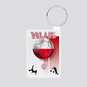 Poland Football Soccer Aluminum Photo Keychain