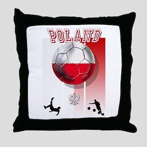 Poland Football Soccer Throw Pillow