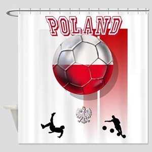 Poland Football Soccer Shower Curtain