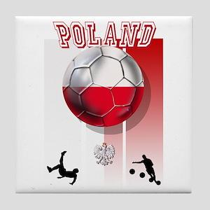 Poland Football Soccer Tile Coaster