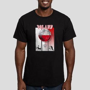 Poland Football Soccer Men's Fitted T-Shirt (dark)