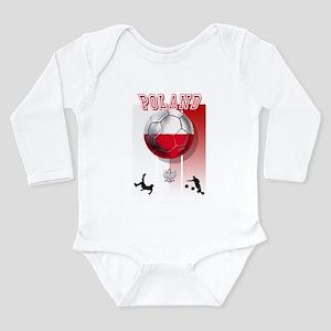 Poland Football Soccer Long Sleeve Infant Bodysuit