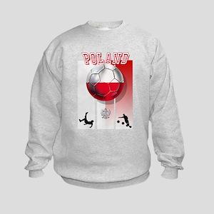 Poland Football Soccer Kids Sweatshirt
