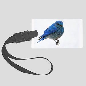 Mountain Blue Bird Large Luggage Tag