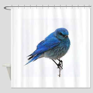 Mountain Blue Bird Shower Curtain