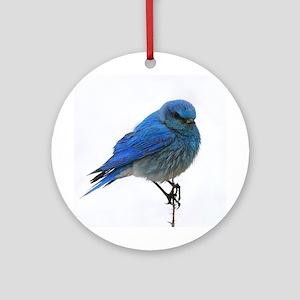Mountain Blue Bird Ornament (Round)