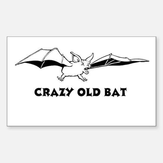 Crazy Old Bat Rectangle Decal