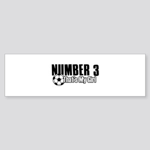 Proud soccer parent of number 3 Sticker (Bumper)