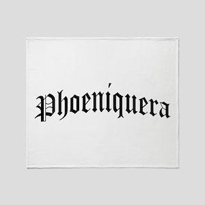 phoeniquera Throw Blanket