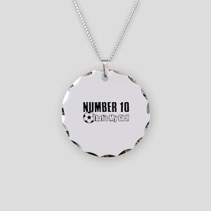 Proud soccer parent of number 10 Necklace Circle C