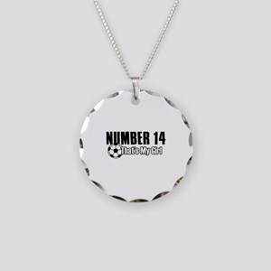 Proud soccer parent of number 14 Necklace Circle C