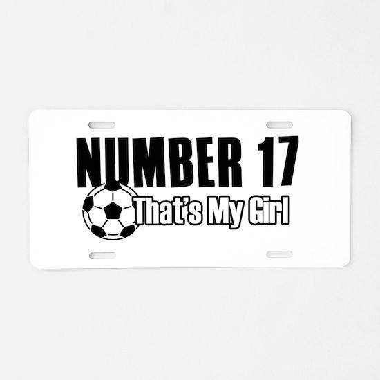 Proud soccer parent of number 17 Aluminum License