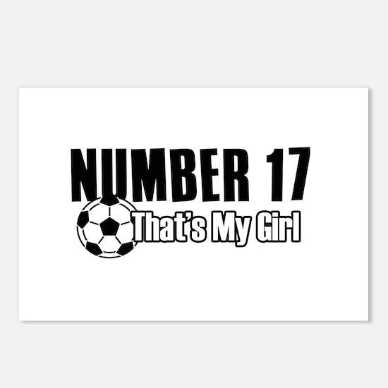 Proud soccer parent of number 17 Postcards (Packag