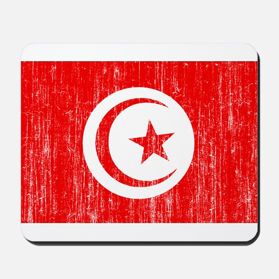 Tunisia Flag Mousepad