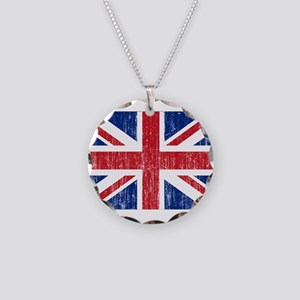 United Kingdom Flag Necklace Circle Charm