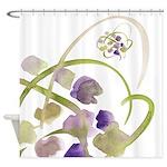Atom Flowers #19 Shower Curtain
