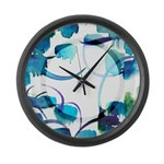 Atom Sea #9 Large Wall Clock