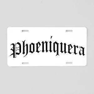 phoeniquera Aluminum License Plate
