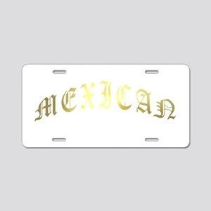 mexican gold Aluminum License Plate