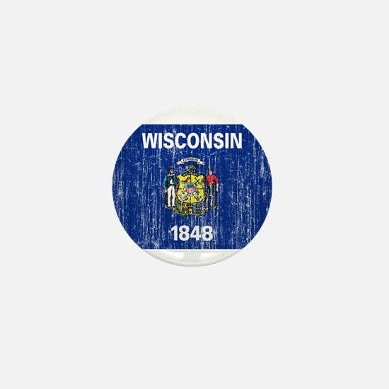 Wisconsin Flag Mini Button