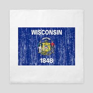 Wisconsin Flag Queen Duvet
